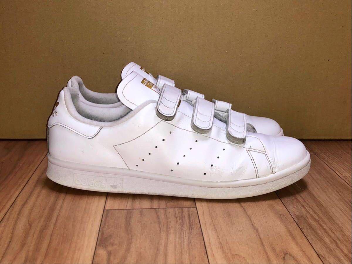 adidas ORIGINALS STAN SMITH CF S75188 US9.5 27.5cm アディダス オリジナルス スタンスミス ベルクロ 白 x 金 ホワイト x ゴールド_画像3