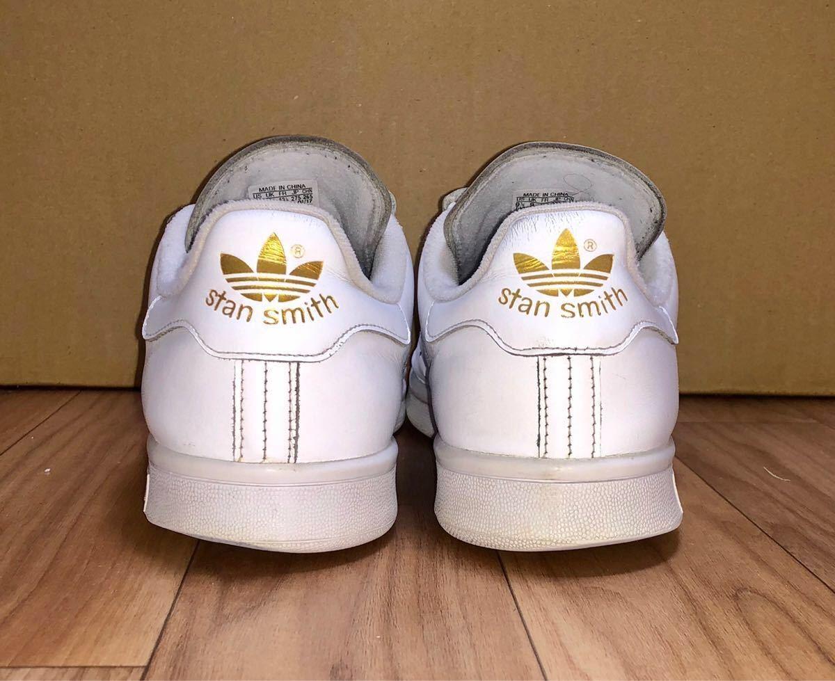 adidas ORIGINALS STAN SMITH CF S75188 US9.5 27.5cm アディダス オリジナルス スタンスミス ベルクロ 白 x 金 ホワイト x ゴールド_画像4
