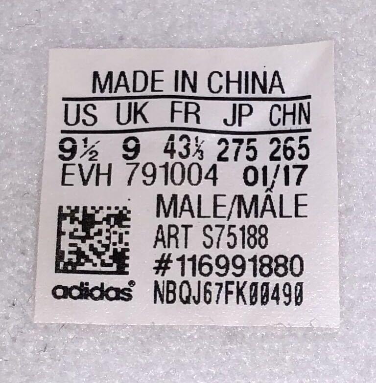 adidas ORIGINALS STAN SMITH CF S75188 US9.5 27.5cm アディダス オリジナルス スタンスミス ベルクロ 白 x 金 ホワイト x ゴールド_画像7