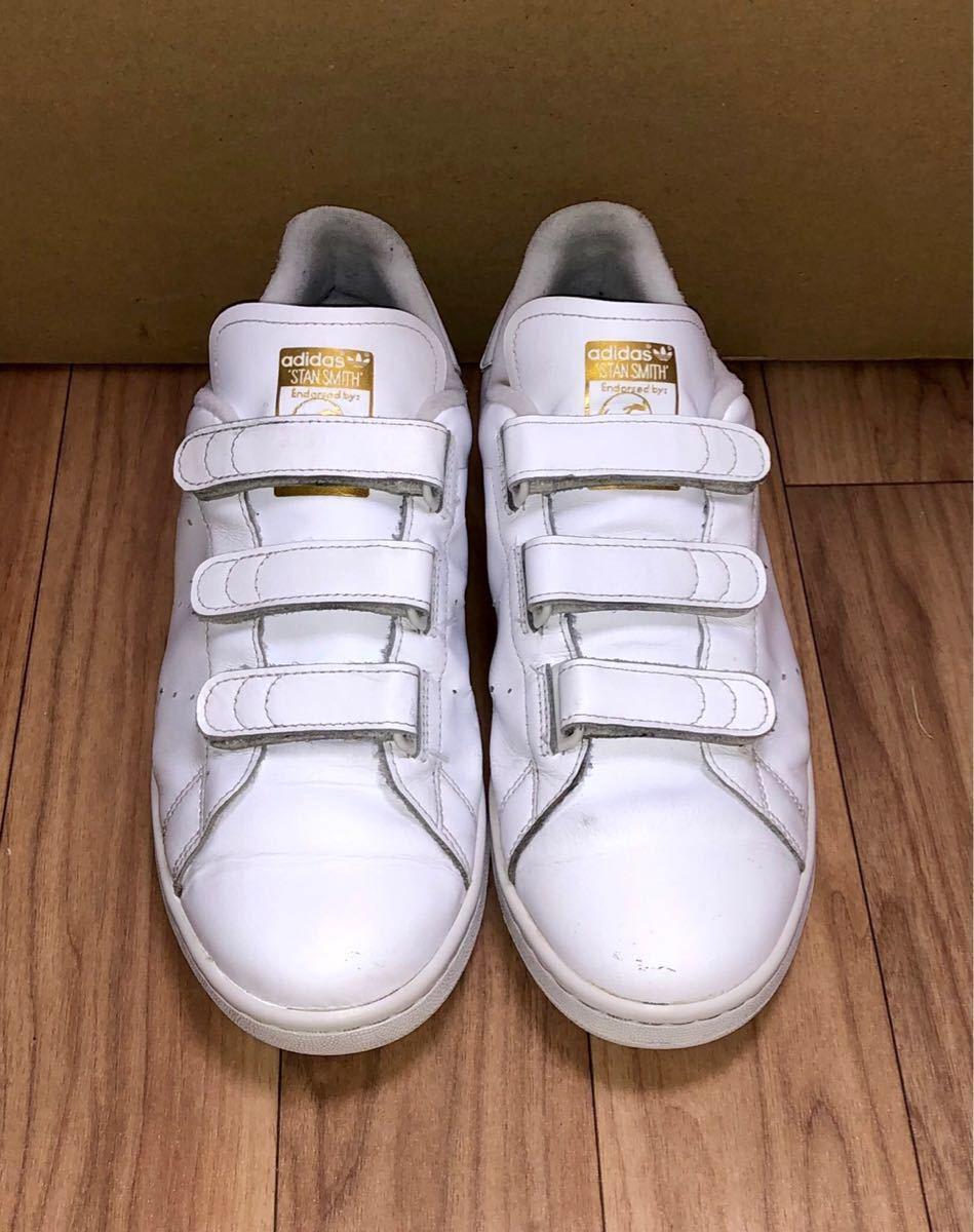 adidas ORIGINALS STAN SMITH CF S75188 US9.5 27.5cm アディダス オリジナルス スタンスミス ベルクロ 白 x 金 ホワイト x ゴールド_画像2