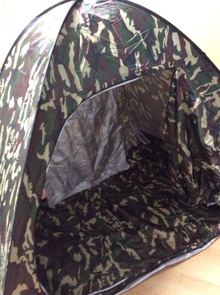 テント ワンタッチ 1、2人用 未使用 カモフラ柄 _画像1