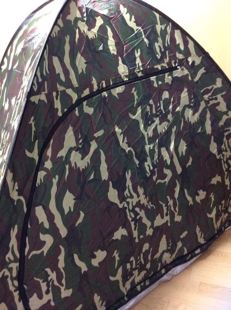 テント ワンタッチ 1、2人用 未使用 カモフラ柄 _画像2