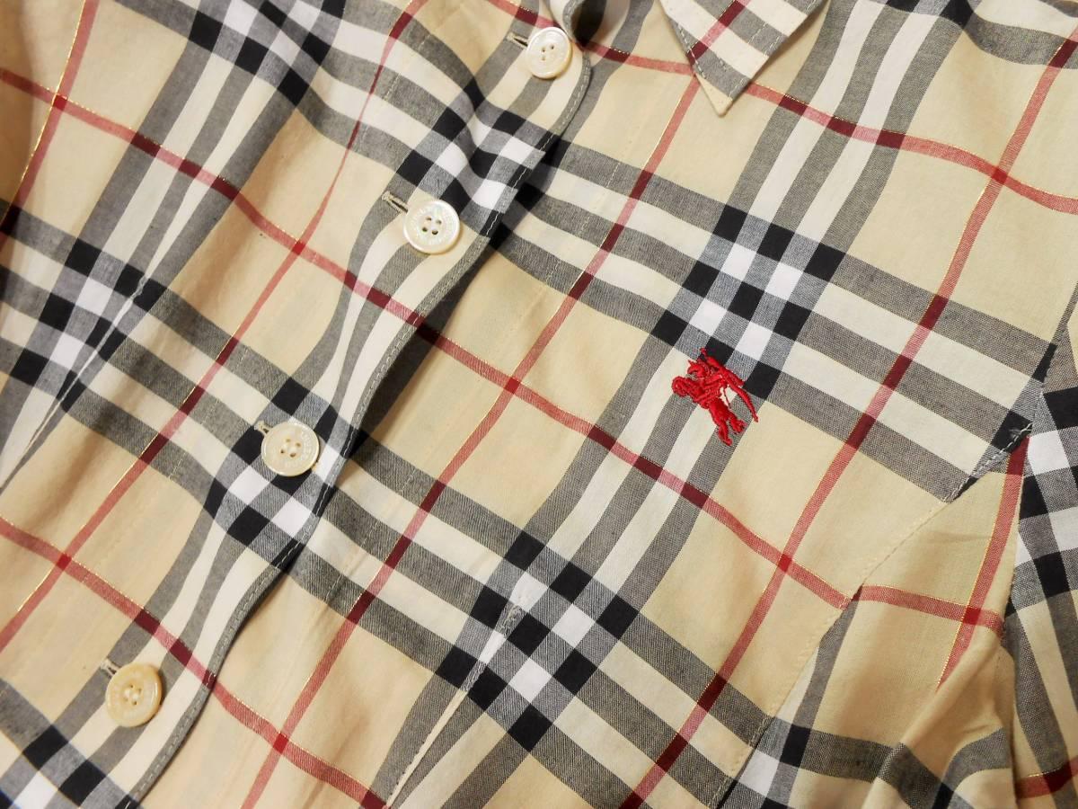 美品 BURBERRY LONDON バーバリー ロンドン ワンピース  ベルト付き ノバチェック サイズ 38_画像7
