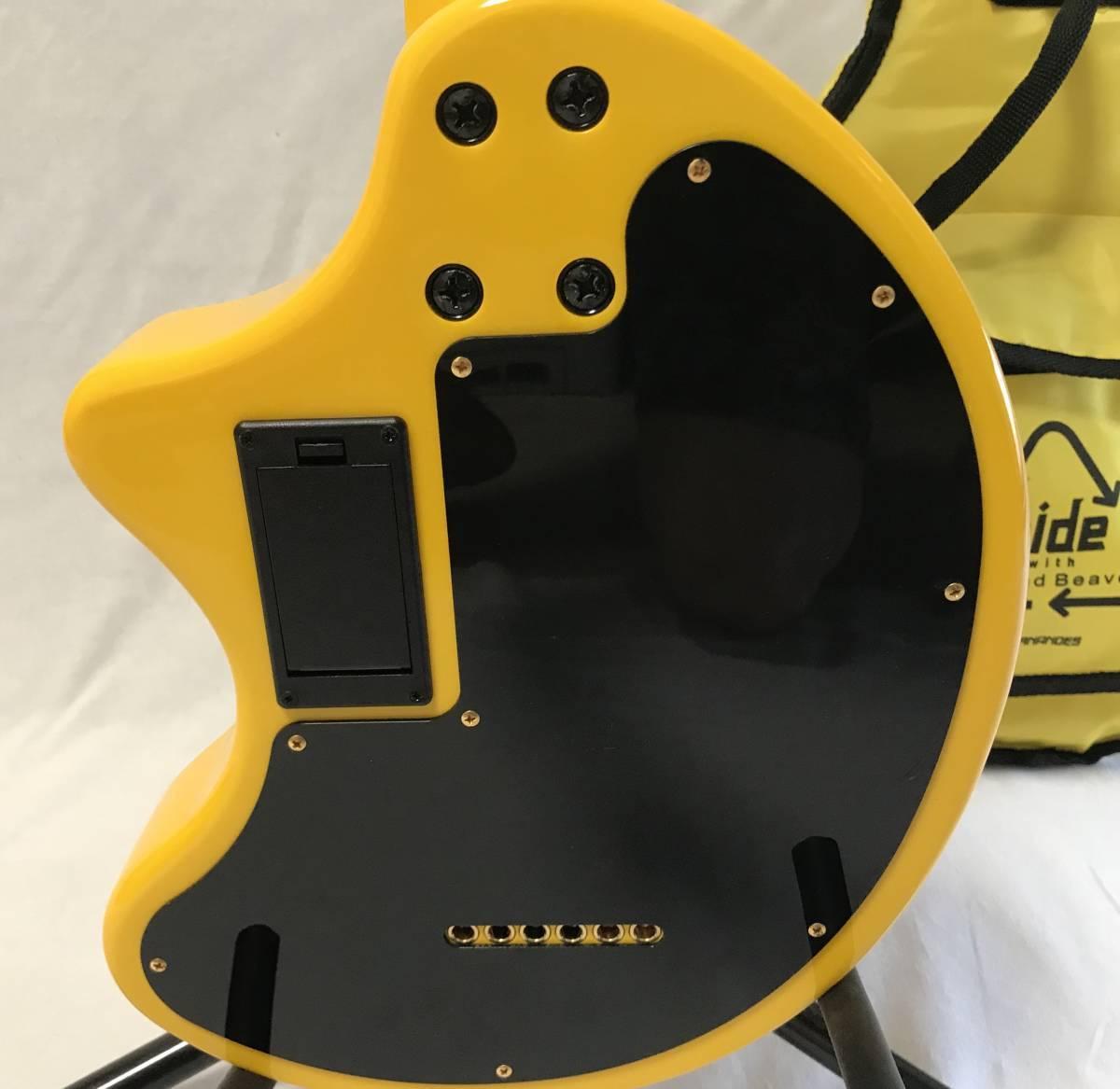 【希少・レア】FERNANDES フェルナンデス ZO-3 イエローハート hideモデル 初回生産500本 オリジナルケース付 YELLOW HEART-ZO 定価\44,940_画像5