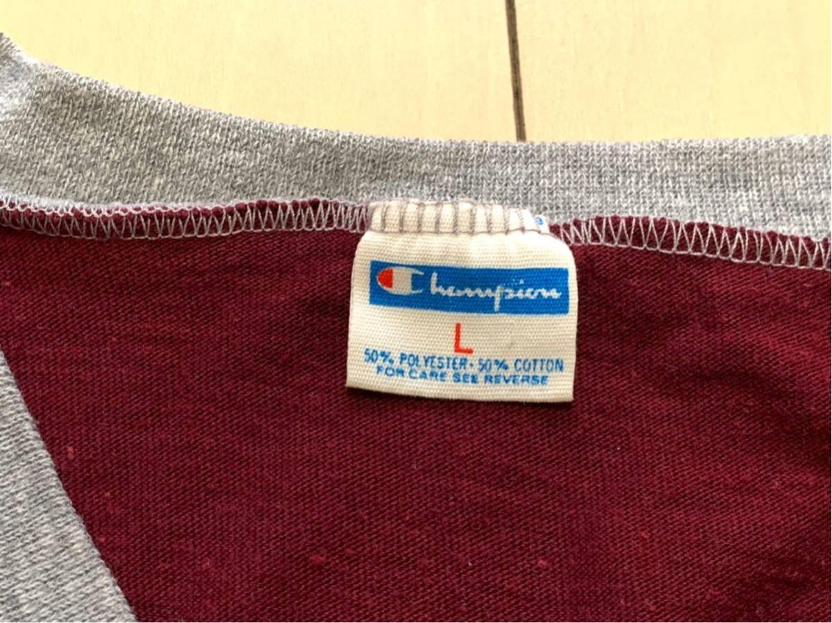 70's CHAMPION バータグ U.S.M.A WEST POINT 霜降り 染み込みプリント Tシャツ USA製 / ビンテージ 70年代 チャンピオン 50's ランタグNAVY_画像3