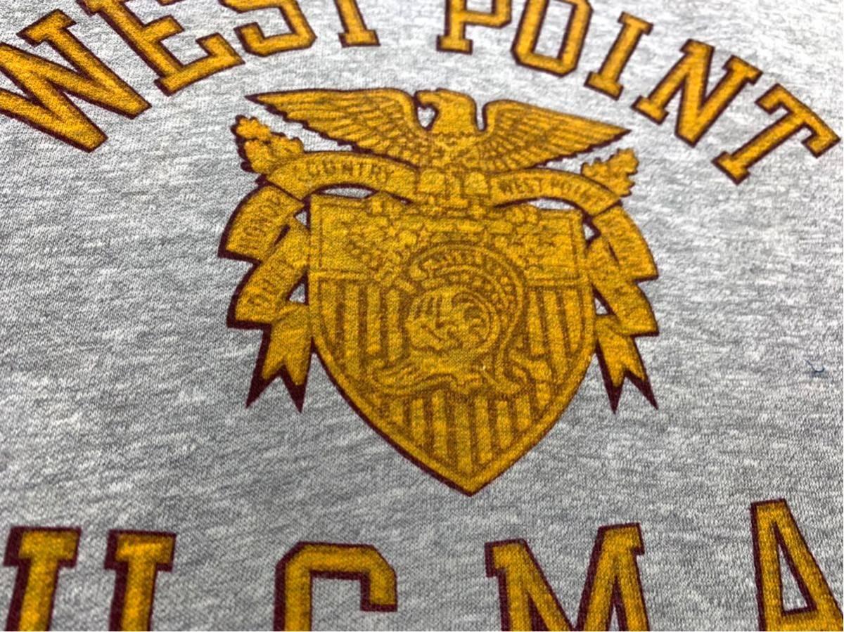 70's CHAMPION バータグ U.S.M.A WEST POINT 霜降り 染み込みプリント Tシャツ USA製 / ビンテージ 70年代 チャンピオン 50's ランタグNAVY_画像6