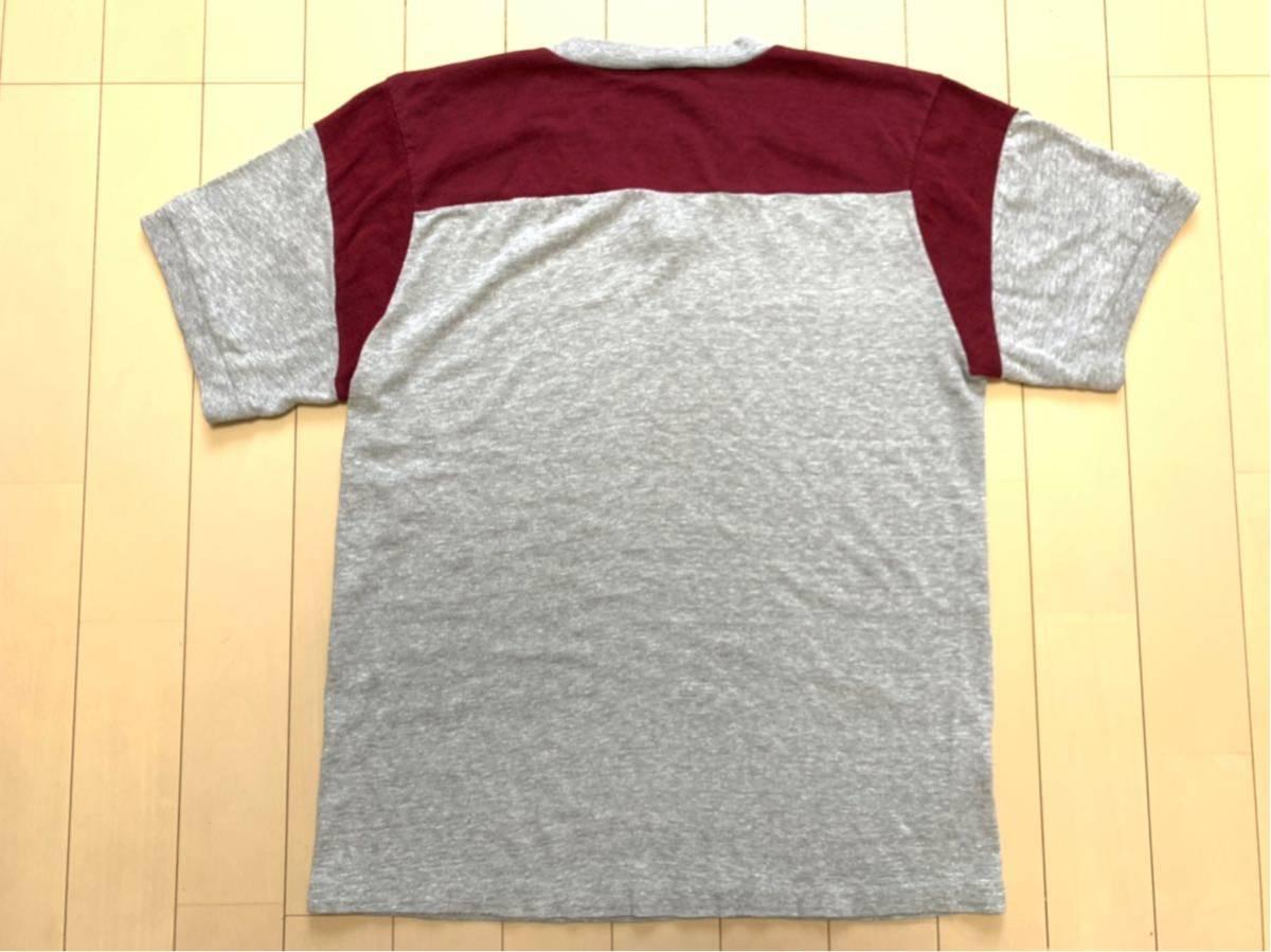 70's CHAMPION バータグ U.S.M.A WEST POINT 霜降り 染み込みプリント Tシャツ USA製 / ビンテージ 70年代 チャンピオン 50's ランタグNAVY_画像5