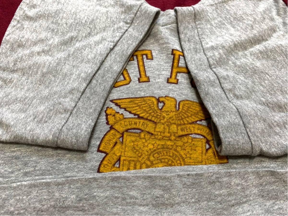 70's CHAMPION バータグ U.S.M.A WEST POINT 霜降り 染み込みプリント Tシャツ USA製 / ビンテージ 70年代 チャンピオン 50's ランタグNAVY_画像7