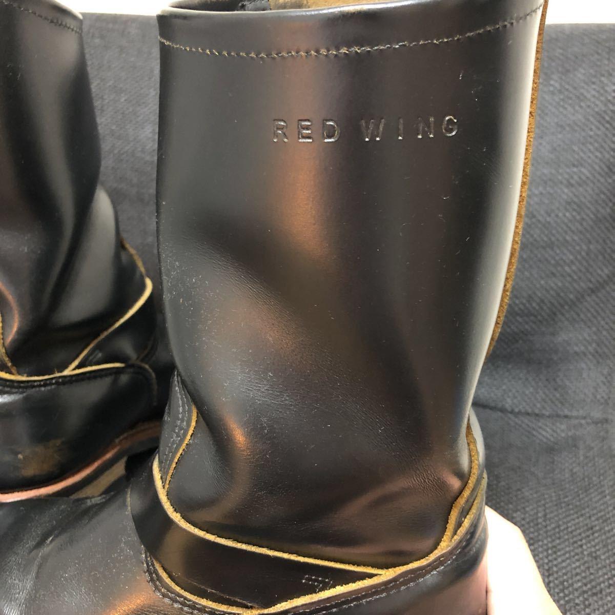 RED WING(レッドウィング) 9268 Engineer Boots(エンジニアブーツ スチールあり) ブラック・クロンダイク 茶芯_画像8