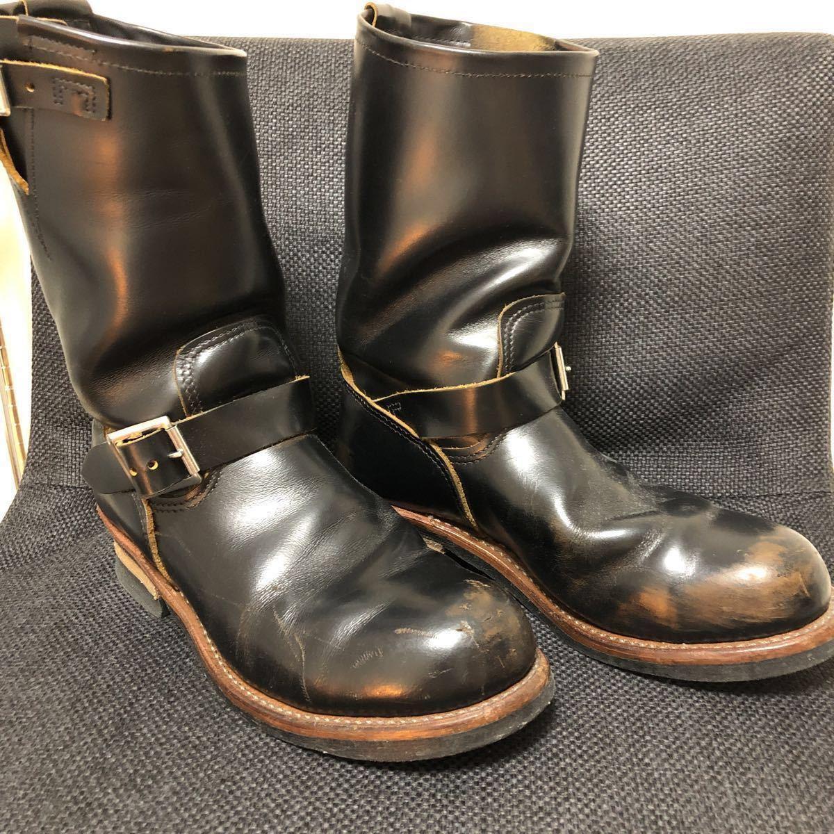RED WING(レッドウィング) 9268 Engineer Boots(エンジニアブーツ スチールあり) ブラック・クロンダイク 茶芯