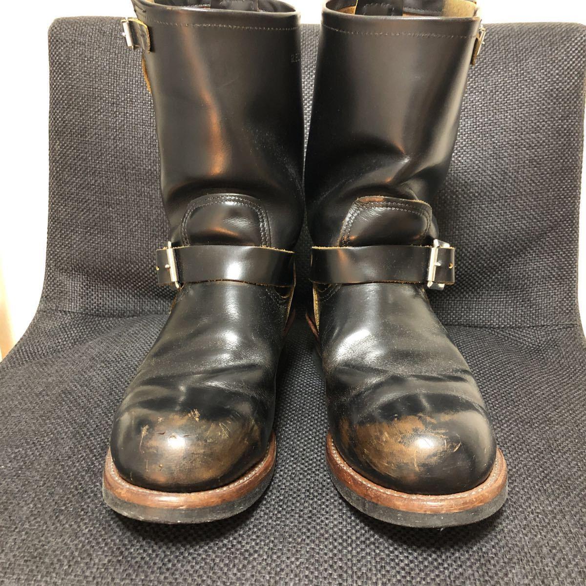 RED WING(レッドウィング) 9268 Engineer Boots(エンジニアブーツ スチールあり) ブラック・クロンダイク 茶芯_画像3