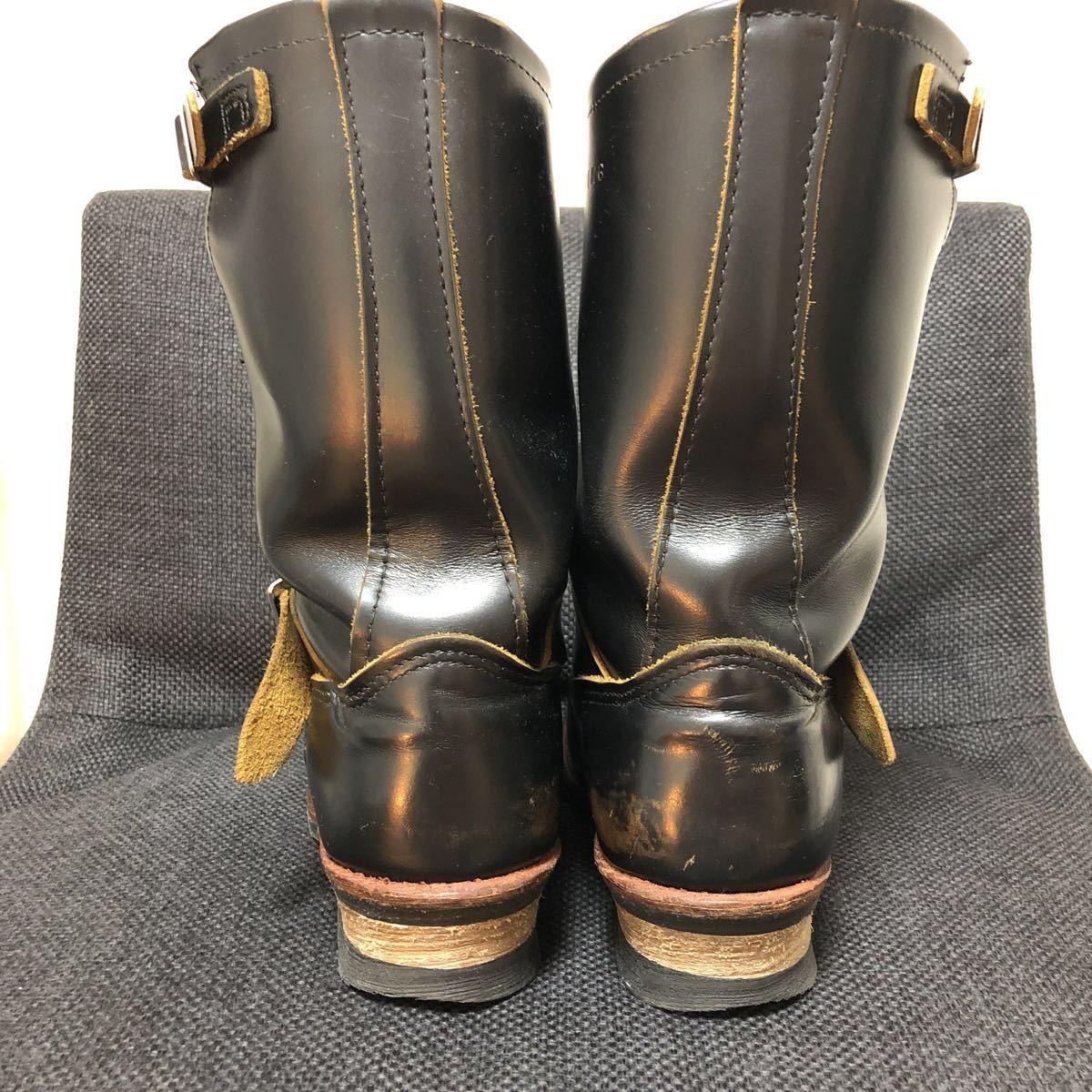 RED WING(レッドウィング) 9268 Engineer Boots(エンジニアブーツ スチールあり) ブラック・クロンダイク 茶芯_画像5