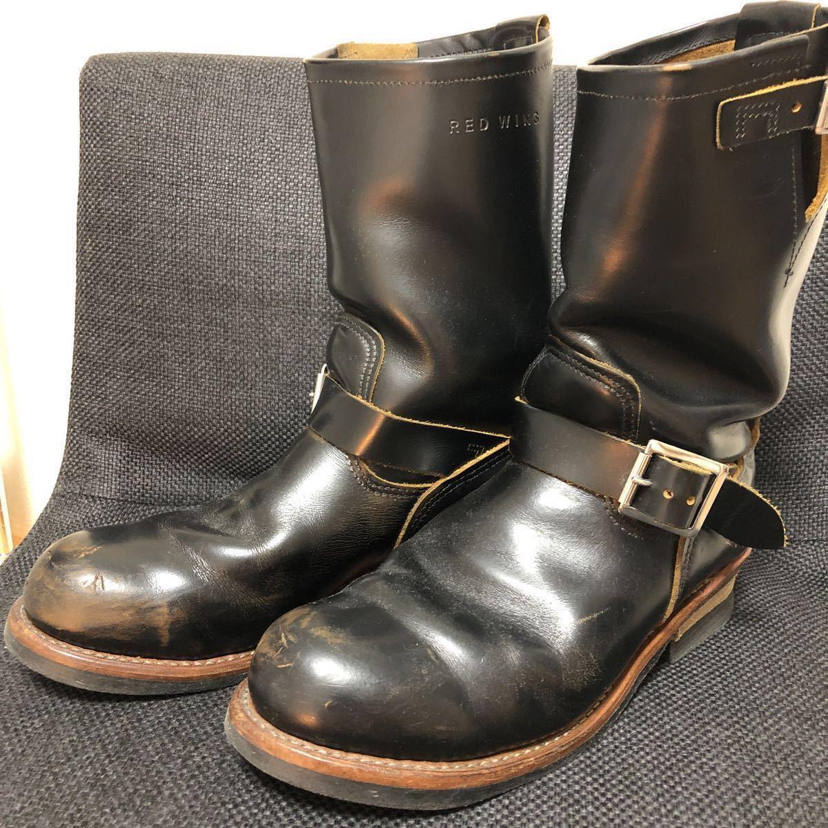 RED WING(レッドウィング) 9268 Engineer Boots(エンジニアブーツ スチールあり) ブラック・クロンダイク 茶芯_画像2