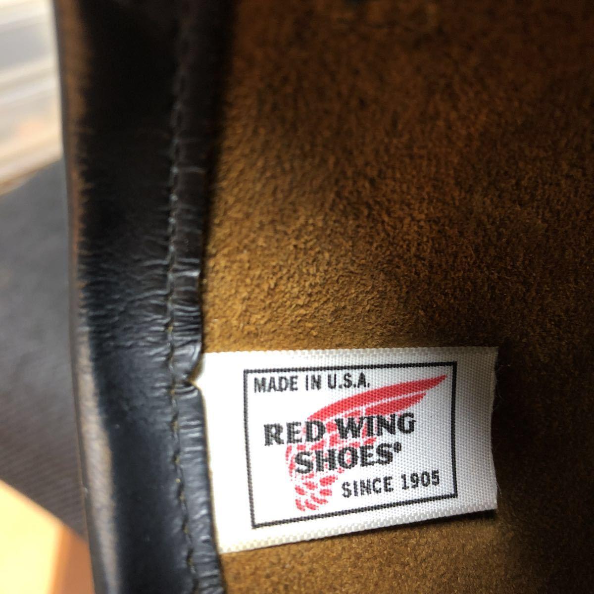 RED WING(レッドウィング) 9268 Engineer Boots(エンジニアブーツ スチールあり) ブラック・クロンダイク 茶芯_画像9