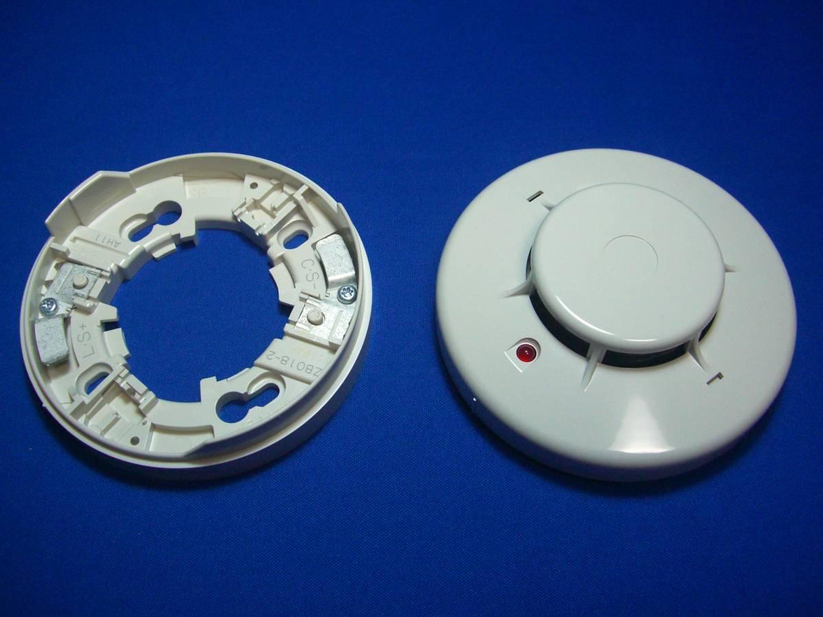 新品未使用品 能美防災㈱ 光電式スポット型感知器2種 煙感知器ベース付き 5個セット_画像3