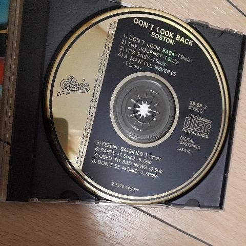 金レーベル ボストン/ドント ルック バック(新惑星着陸)旧規格税表記無3500円盤 35・8P-7-6 1A1 入手困難_画像2