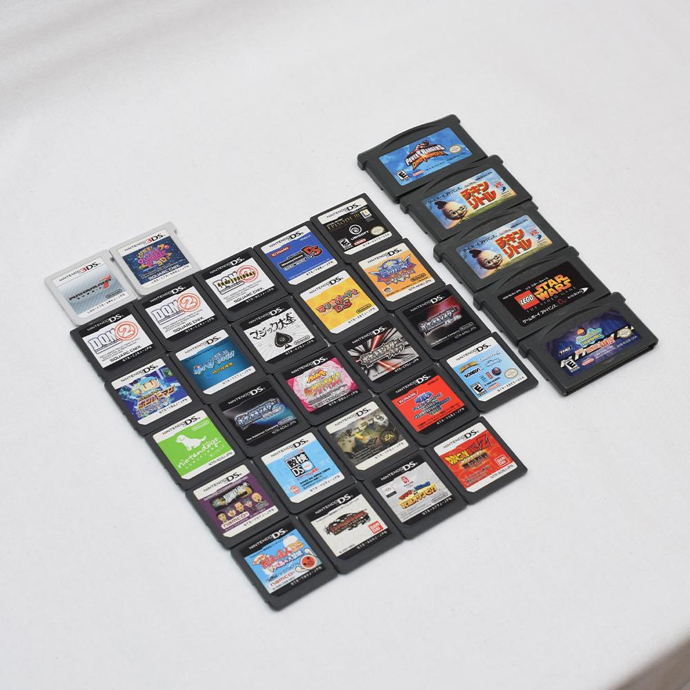 Nintendo 任天堂 DS Lite レッド 3DS ブラック DSi ブラックx2 + 3DS カセット、DSカセット、GBA 有名ソフト多数 ポケモン ドラクエ ボンバ_画像7