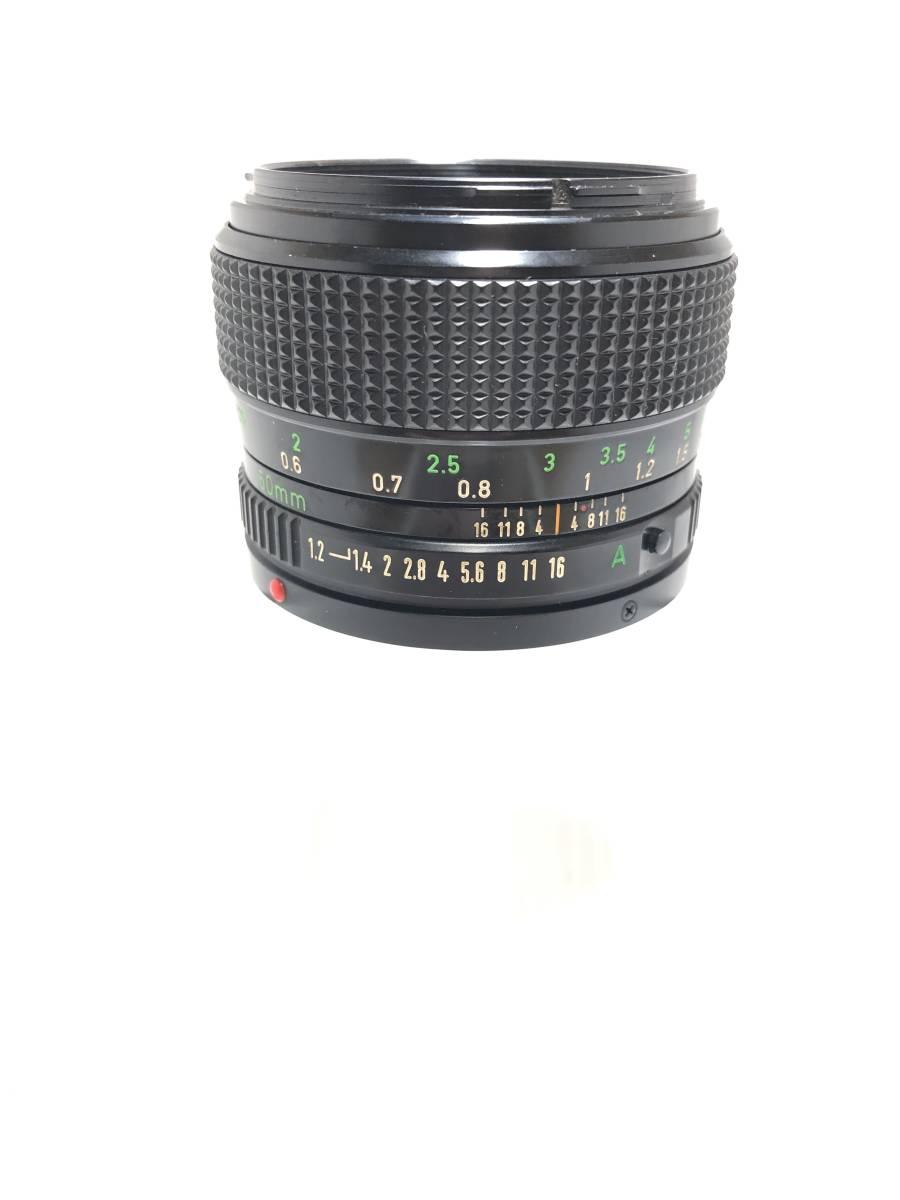 ★美品★ CANON LENS New FD 50mm F1.2 明るい単焦点 大口径レンズ FDマウント Canon キヤノン キャノン_画像4