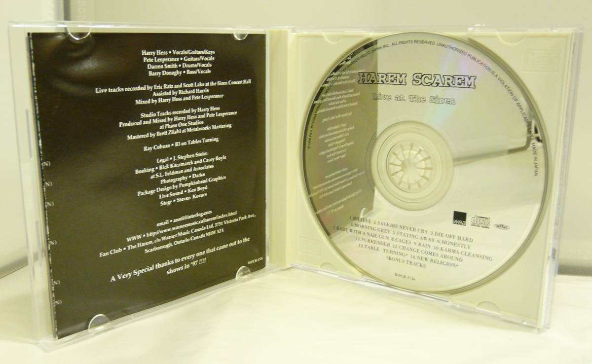 CD♪USED◎Harem Scarem RUBBER ◆ライヴ・アット・ザ・サイレン [初回限定盤](WPCR1736)◆ゆうメール発送◎管理CD1453_ジャケットにスレあります。
