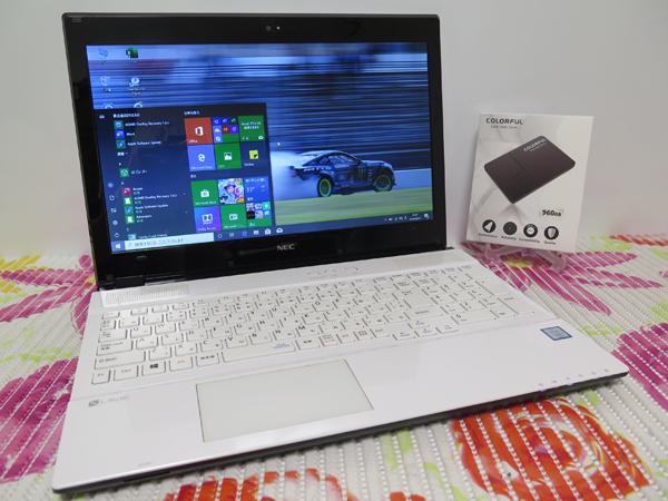 2017年モデル NS600/G【高速Core i7第7世代★爆速新SSD960GB】NEC ホワイト 最新Windows1