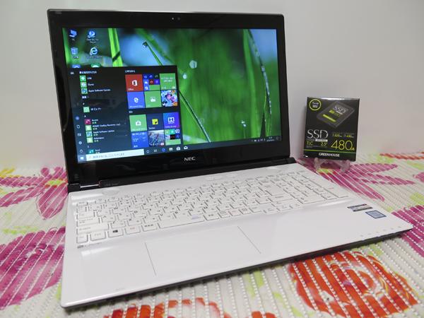 2016年7月モデル 【高速Core i3(Skylake)第6世代★爆速新SSD480GB】NEC Lavie ホワイト 最新Windows10 ★ メモリ4GB HDMI Office2016