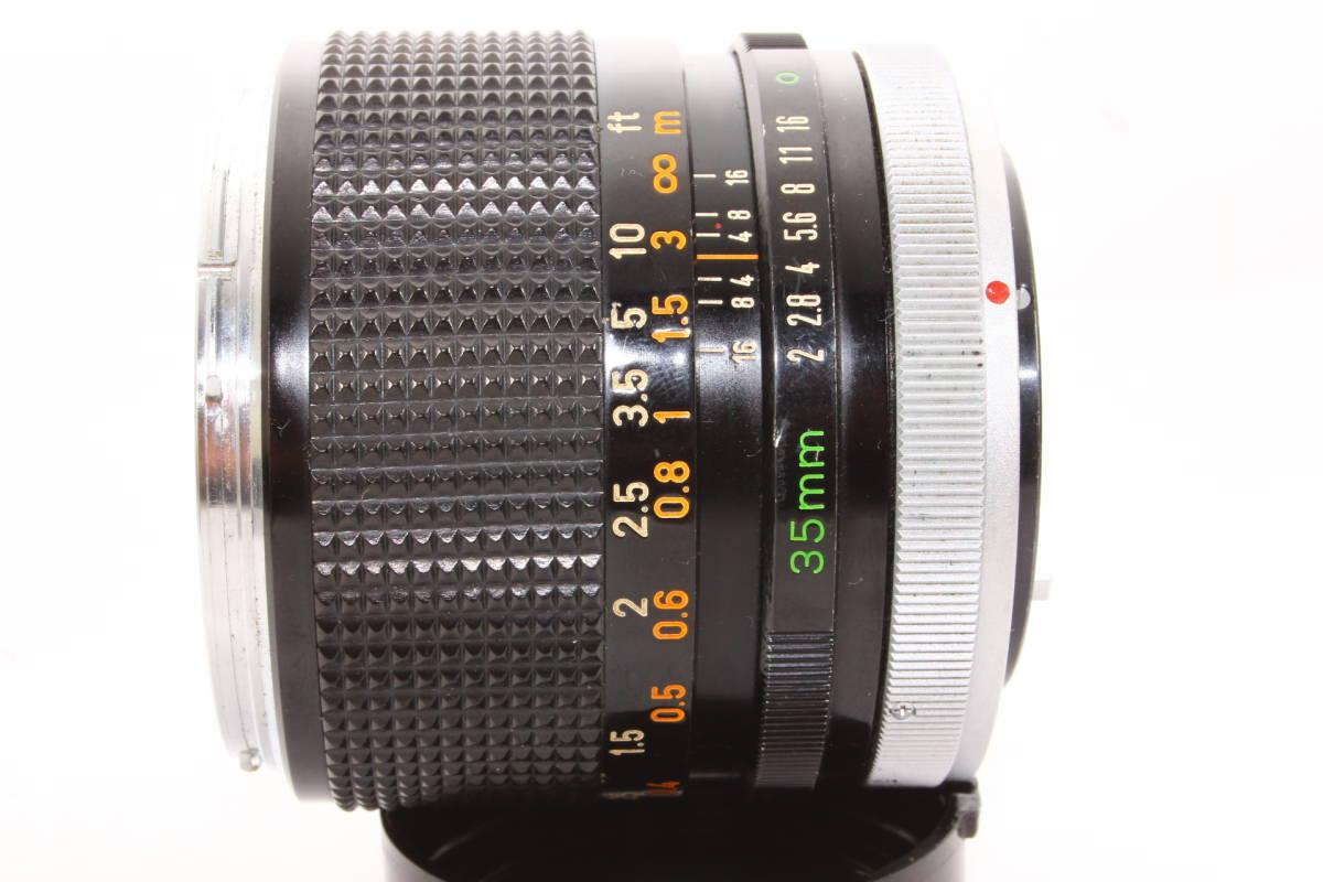 キヤノン CANON LENS FD 35mm F2 レンズ BS-55 フード [16165]_画像8