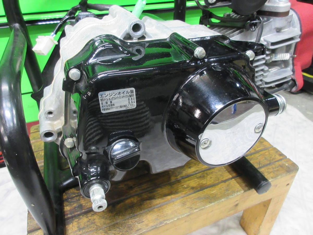 モンキーFI 純正 実働エンジン ノーマル 低走行 312km 異音無し 検索 AB27 AB28 Z50J ゴリラ モンキー12V 6V スーパーカブ 武川 ヨシムラ_画像2