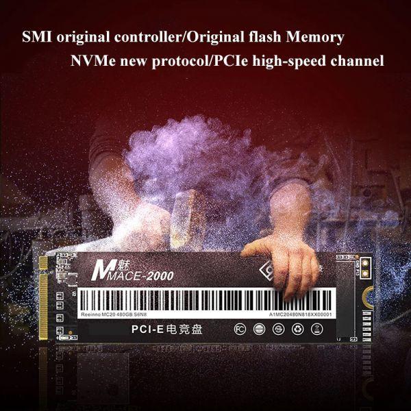 ★新品!!最安値★Reeinno SSD M.2 NVMe PCI-E 240GB 3D 高速 NAND TLC 内蔵型 Mace2000-960 デスクトップ ノートパソコン DE041_画像5