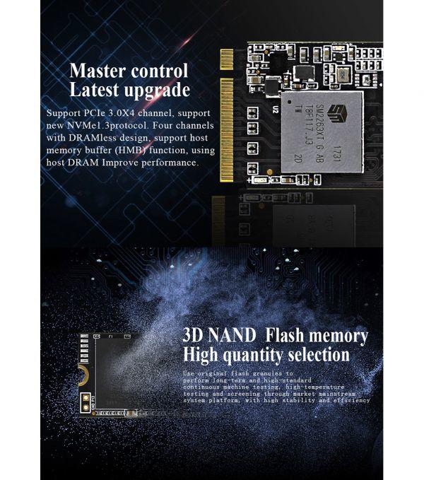 ★新品!!最安値★Reeinno SSD M.2 NVMe PCI-E 240GB 3D 高速 NAND TLC 内蔵型 Mace2000-960 デスクトップ ノートパソコン DE041_画像8