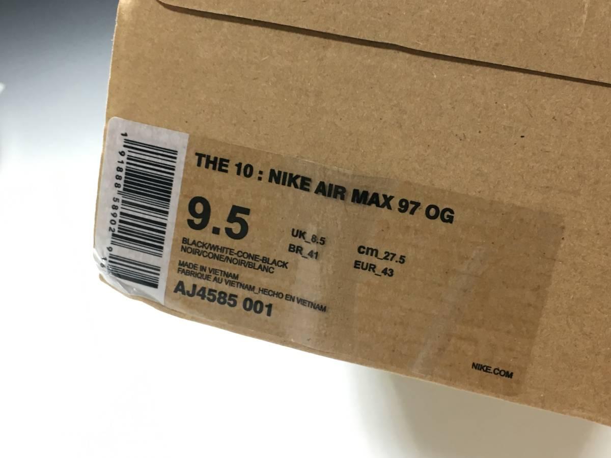 【新品】The Ten Off White x Nike Air Max 97 オフホワイト エアマックス スニーカー 27.5㎝_画像10