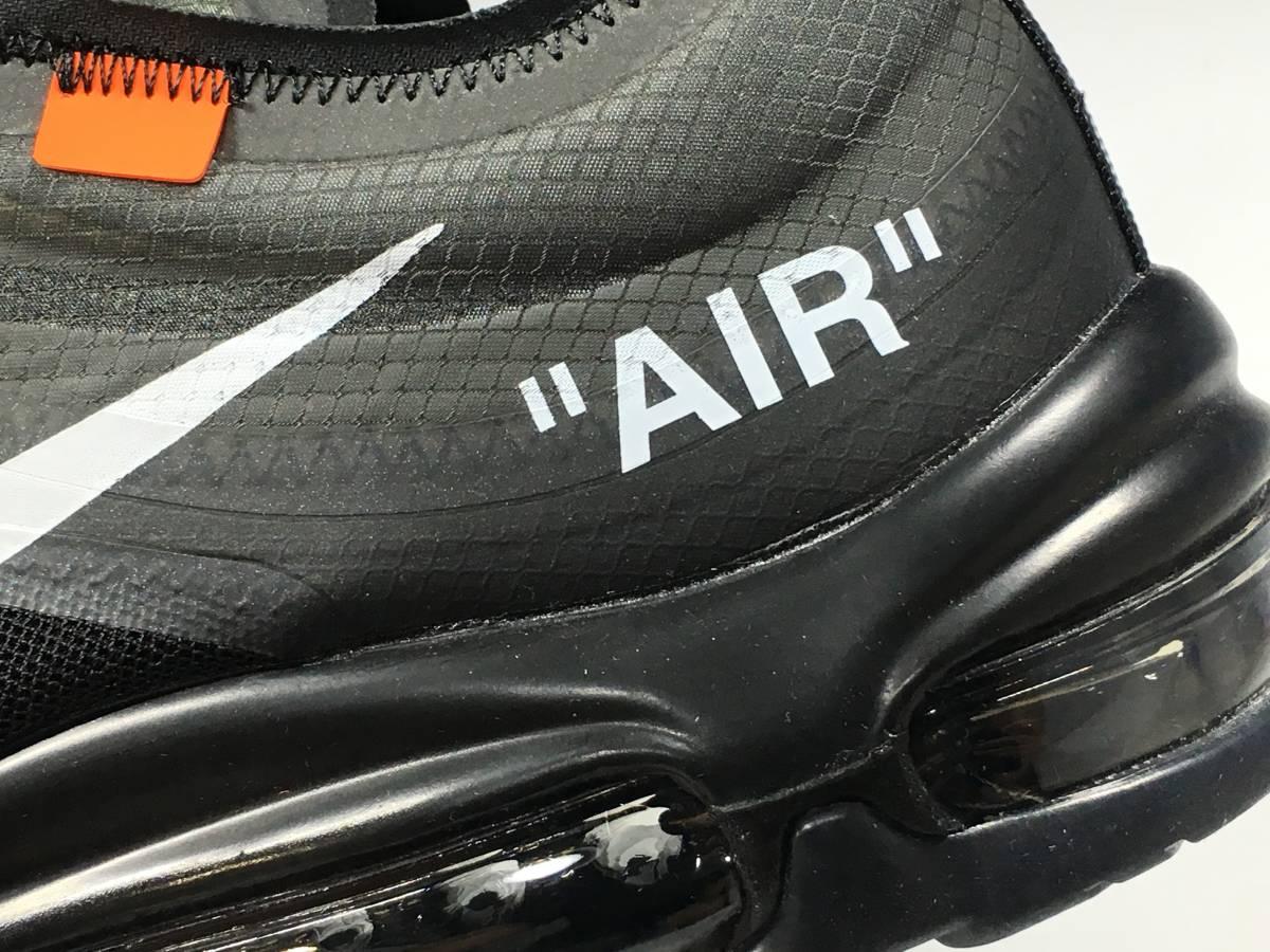 【新品】The Ten Off White x Nike Air Max 97 オフホワイト エアマックス スニーカー 27.5㎝_画像3