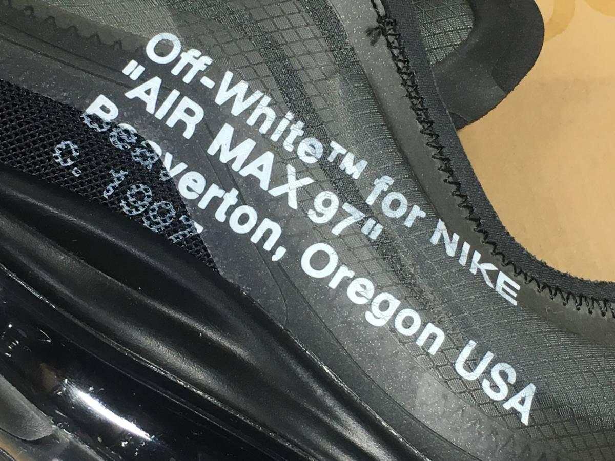 【新品】Off White x Nike Air Max 97 オフホワイト エアマックス スニーカー 26.5㎝ 希少 コラボ_画像4