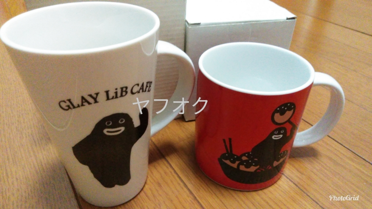 ※説明必読!GLAY公式ズラー陶器製マグカップセットTERU.HISASHI.JIRO.TAKURO_画像1