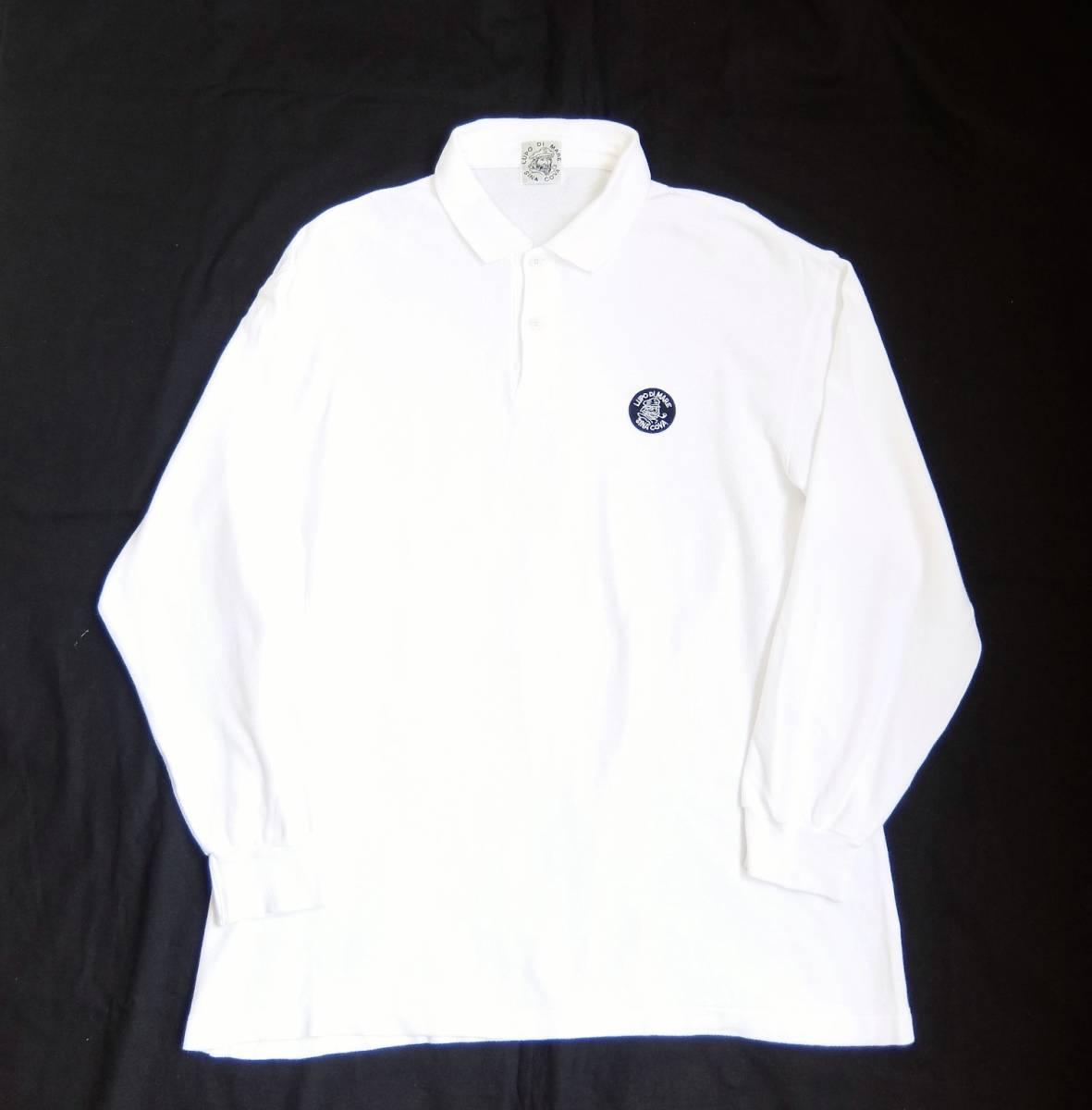 SINA COVA シナコバ ワッペン付き 長袖 ポロシャツ ホワイト Lサイズ_画像4