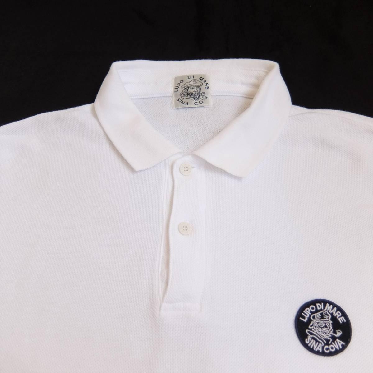 SINA COVA シナコバ ワッペン付き 長袖 ポロシャツ ホワイト Lサイズ_画像5