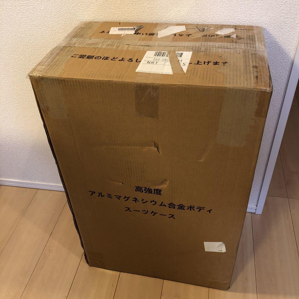 スーツケース アルミマグネシウム合金 キャリーバッグ 360度回転 静音キャスター TSAロック フレームタイプ 保護カバー付 軽量 新品未使用_画像8