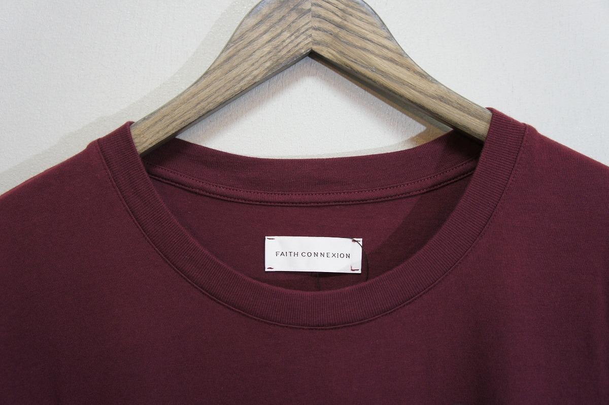 正規19SS FAITH CONNEXIONフェイスコネクション オーバーサイズ Tシャツ 半袖カットソー X3711JOPR30 エンジ819J_画像3