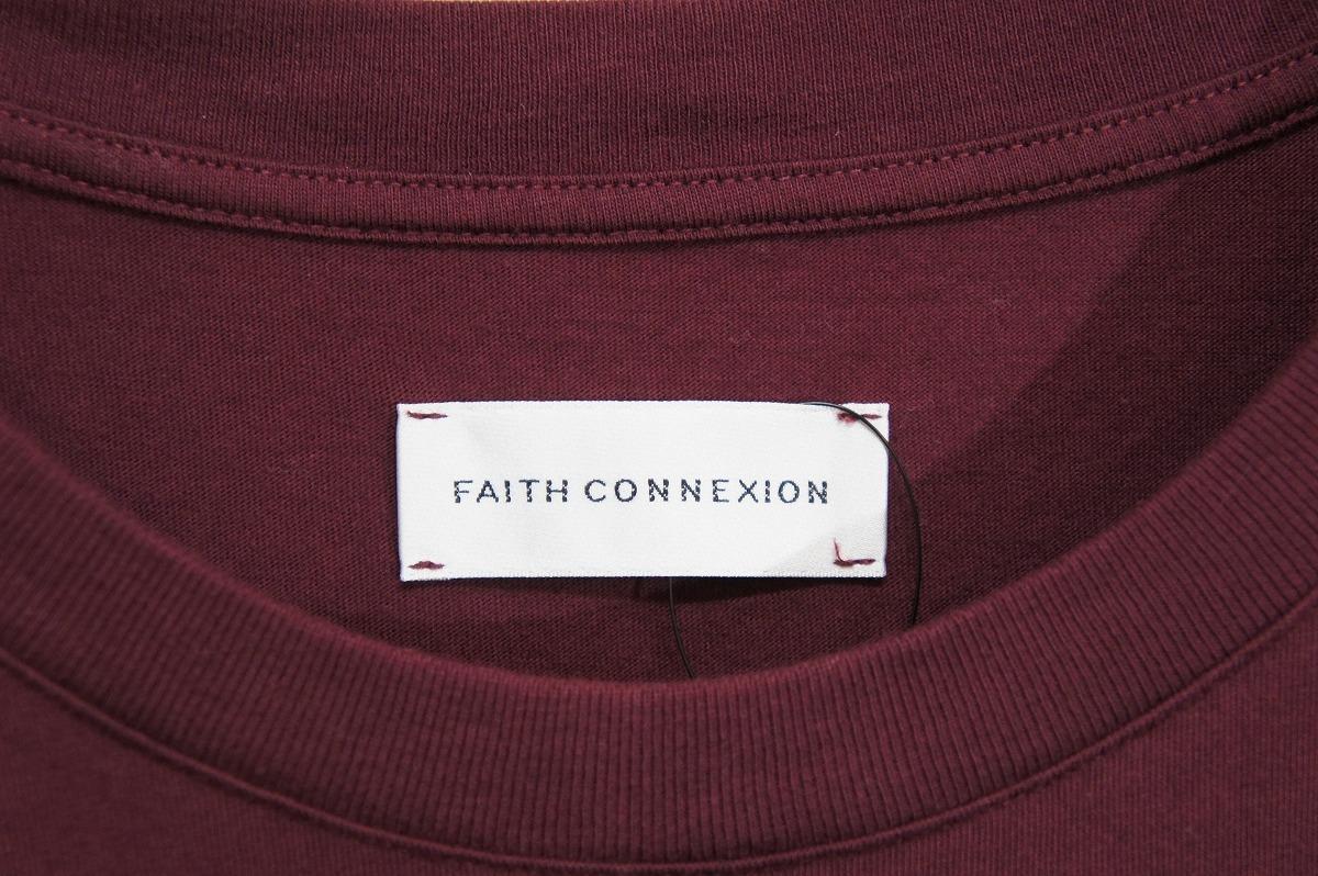 正規19SS FAITH CONNEXIONフェイスコネクション オーバーサイズ Tシャツ 半袖カットソー X3711JOPR30 エンジ819J_画像4