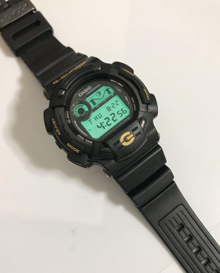 美品 CASIO G-SHOCK DW-8600BJ-1 FISHERMAN フィッシャーマン チタン ブラック ゴールド タイドグラフ Gショック_画像10