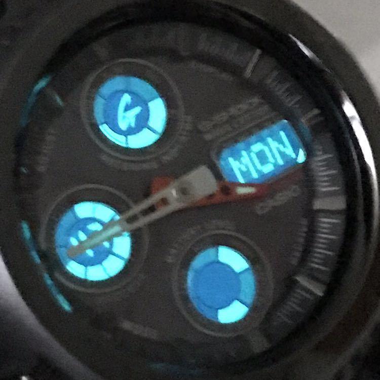 極美品 CASIO G-SHOCK GW-1000BDJ-8AJF TheG タフソーラー 電波受信 電波ソーラー メタルバンド アナデジ ブラックメタル 反転液晶_画像9