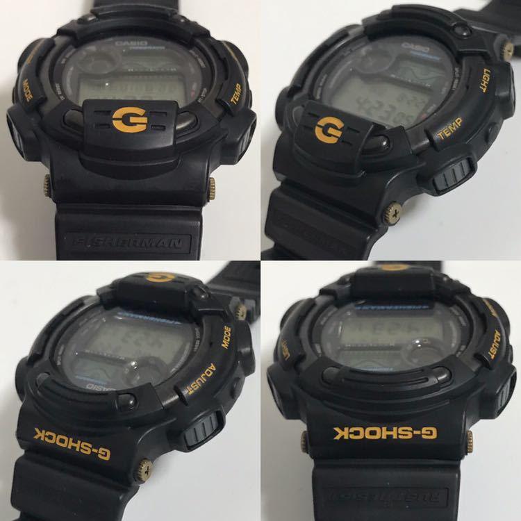 美品 CASIO G-SHOCK DW-8600BJ-1 FISHERMAN フィッシャーマン チタン ブラック ゴールド タイドグラフ Gショック_画像4