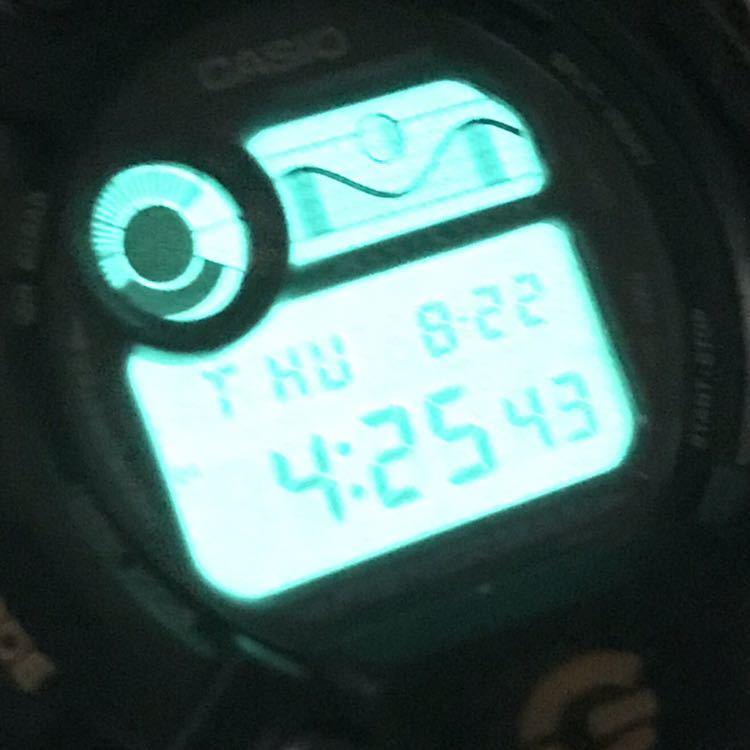 美品 CASIO G-SHOCK DW-8600BJ-1 FISHERMAN フィッシャーマン チタン ブラック ゴールド タイドグラフ Gショック_画像9
