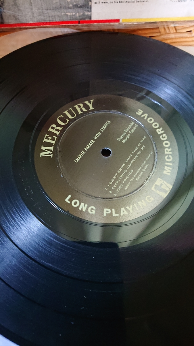 MERCURY10インチ盤CHARLIE PARKER WITH STRINGSオリジナル_画像3