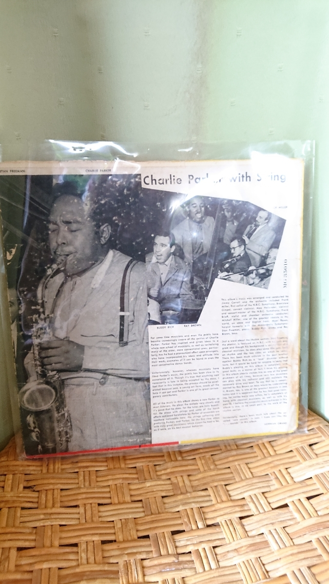 MERCURY10インチ盤CHARLIE PARKER WITH STRINGSオリジナル_画像2