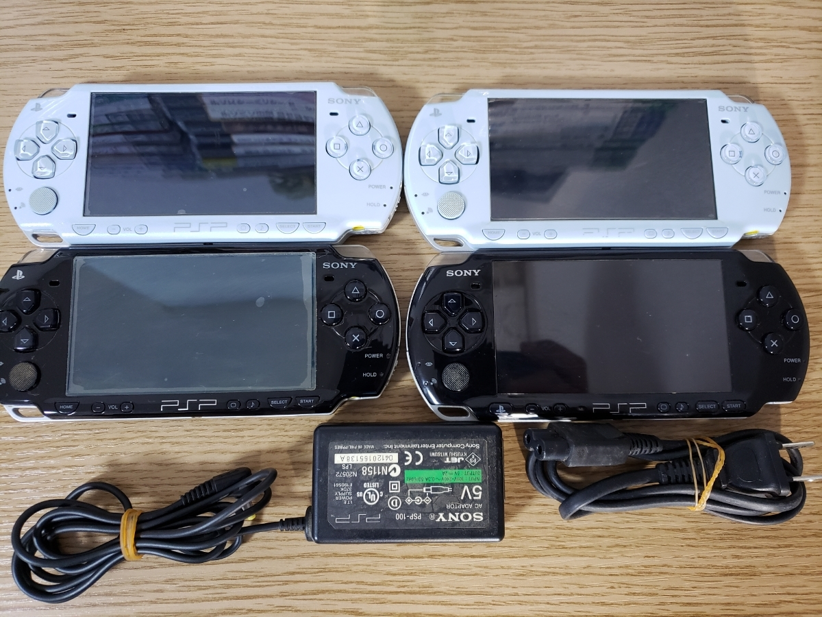 PSP-3000本体3台+ソフト65枚セット/アルカナファミリア/ダンガンロンパ/うたのプリンスさまっ/三國無双/初音ミク/けいおん/幕末ロック_画像2