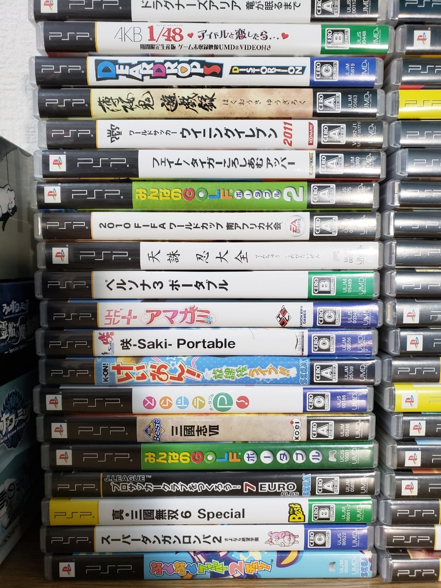 PSP-3000本体3台+ソフト65枚セット/アルカナファミリア/ダンガンロンパ/うたのプリンスさまっ/三國無双/初音ミク/けいおん/幕末ロック_画像4