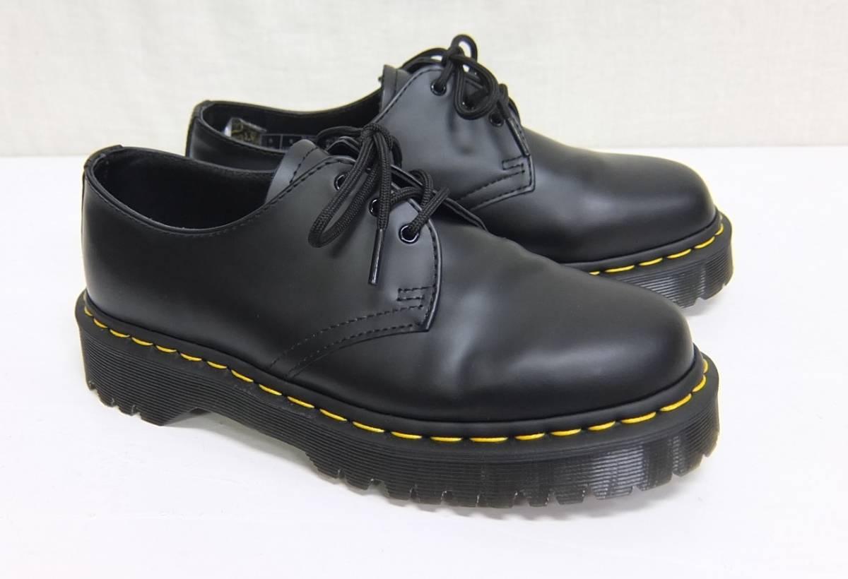 美品 Dr.Martens ドクターマーチン 1461 BEX 3ホールシューズ 黒 UK5 ブラック_画像1