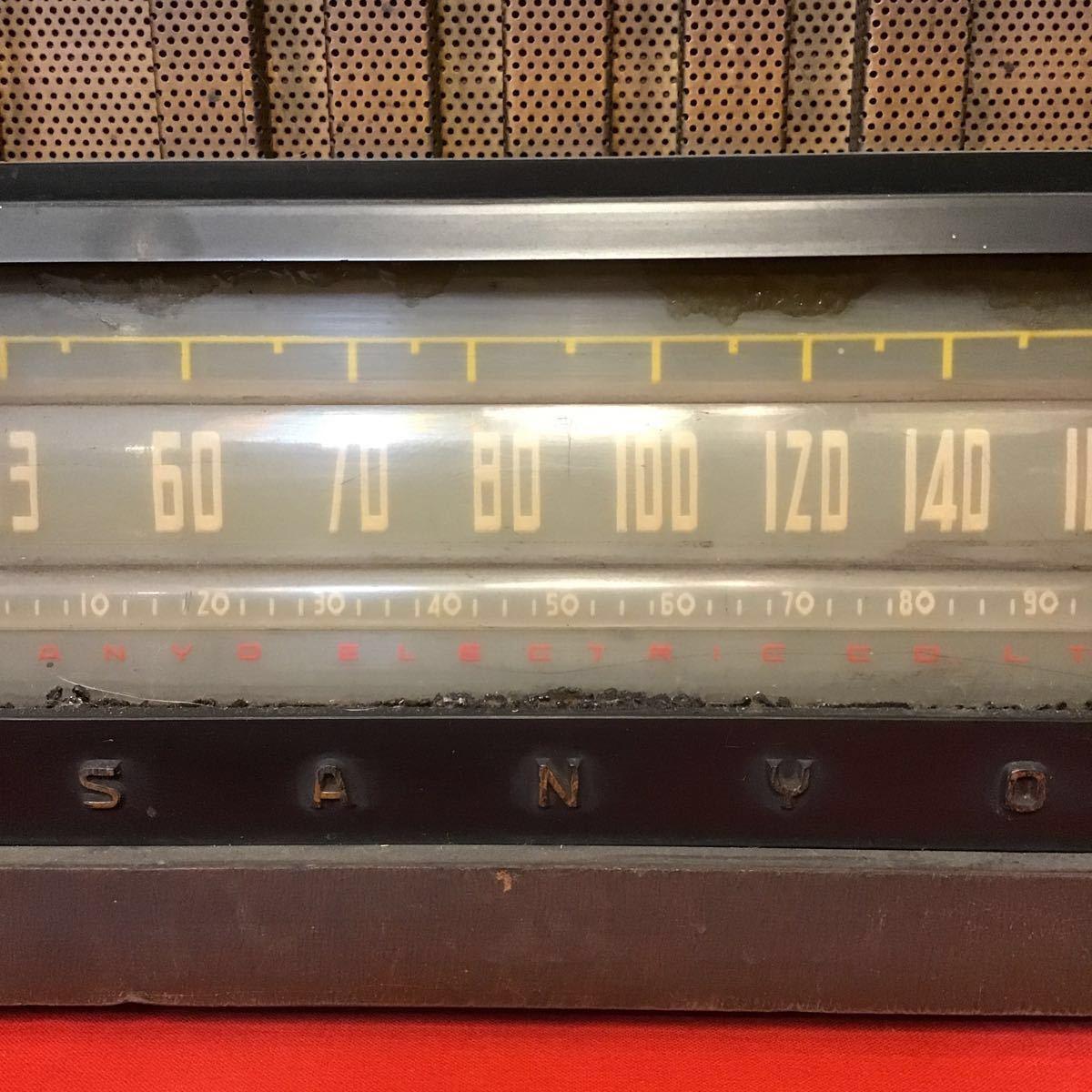 サンヨーラジオ 真空管ラジオ SS-702型 三洋電機株式会社 製品番号1635 ラジオ 当時の品 昭和レトロ レトロ ジャンク 真空管無し_画像4
