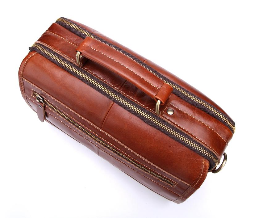 新品高品質【定価46.6万円】斜め掛手提げ ショルダーバッグブリーフケース書類鞄 A4 ビジネスバッグ大容量 上質牛革_画像5