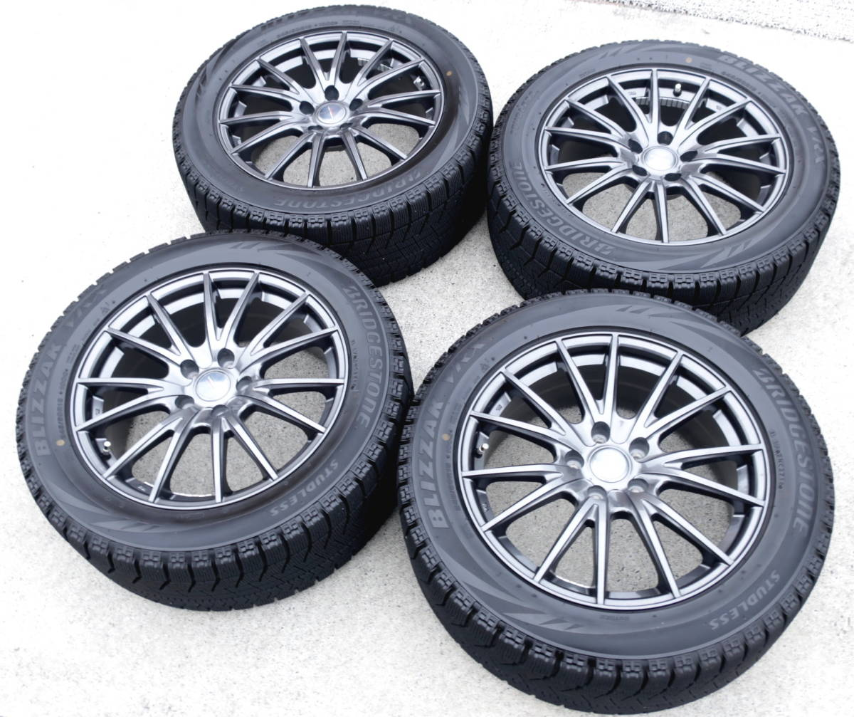 VELVA 軽量ホイル+BLIZZAK VRX 245/50R18 スタッドレス タイヤ 4本 アルファード ヴェルファイア エルグランド フーガ ハリアー CR-V CH-R_画像1